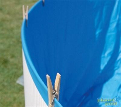 Folija 350 x 90 cm modra 0,20 mm